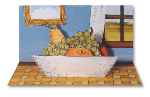 Pop-Up Fruit Bowl Illustration